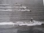 From the top HMS Cheviot - Cockade - Concord - Comus.